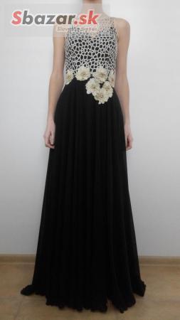 Spoločenské šaty (krémovo zlato-čierne) - PROFIBAZAR.sk 3465bd910d