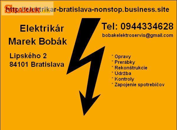Elektrikár Bratislava + okolie