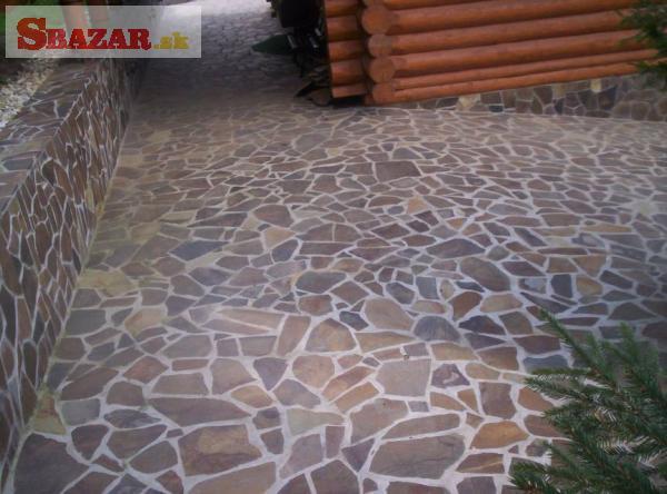 Andezit dúhový - prírodný kameň na obklad / d