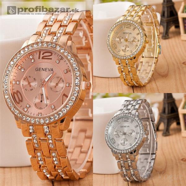 Luxusné dámske hodinky zn. Geneva