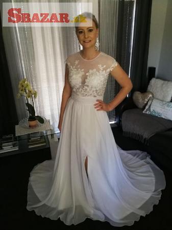 Nádherné svadobné šaty - zdobená záda!!!
