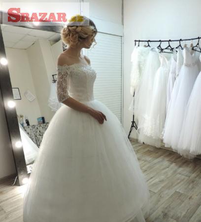 Krásné svadobné šaty za 120,-
