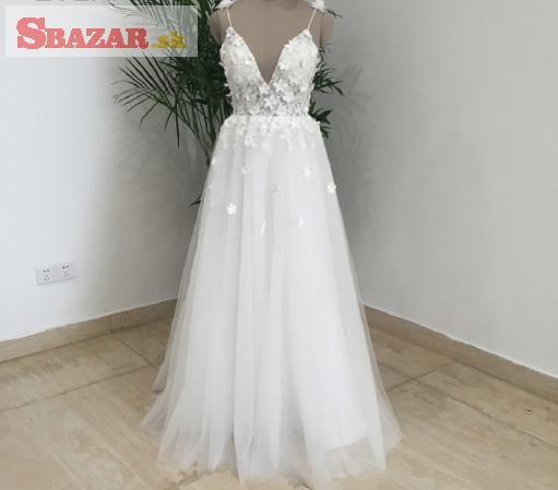 Letné svadobné šaty - SUPER CENA!!