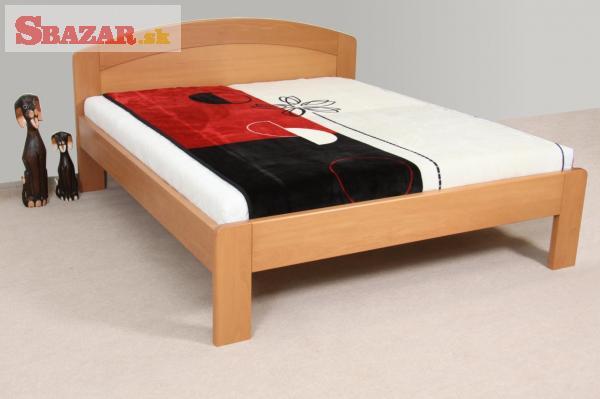 Nová velice masivní 4 cm buková postel - odveze