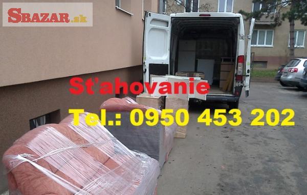 Sťahovanie Trenčín 0950453202 Vypratávanie dop