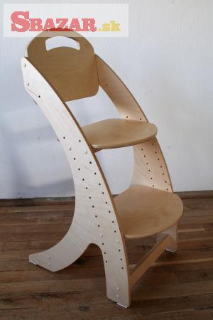Dětská dřevěná rostoucí židle PARIS