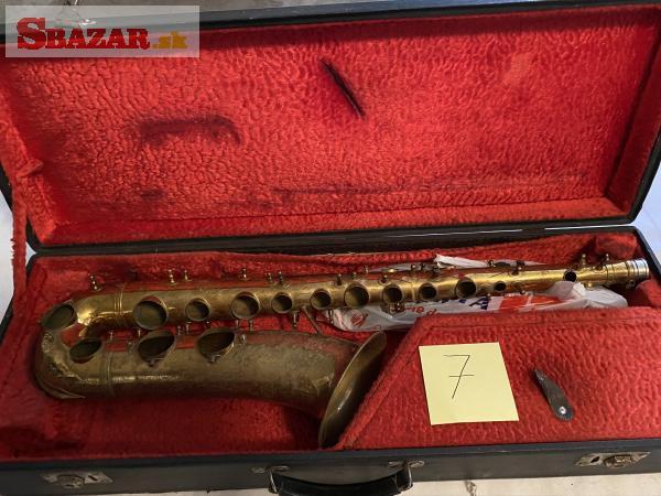 Saxofon B tenor classic D/Lux zlaty korpus+vsetko