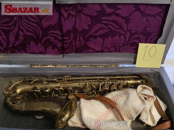 Saxofon Alt zlaty Boosey-Bessons CO London W.C2.