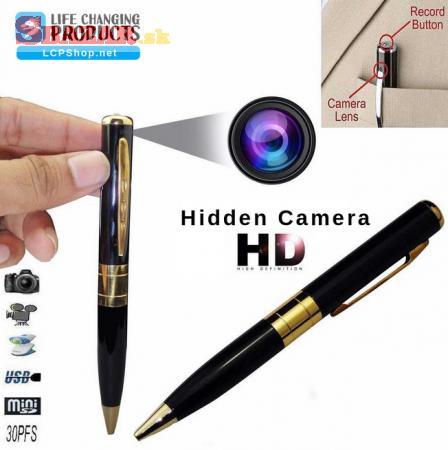 Pero so skrytou kamerou Spycam pen DVR 9141