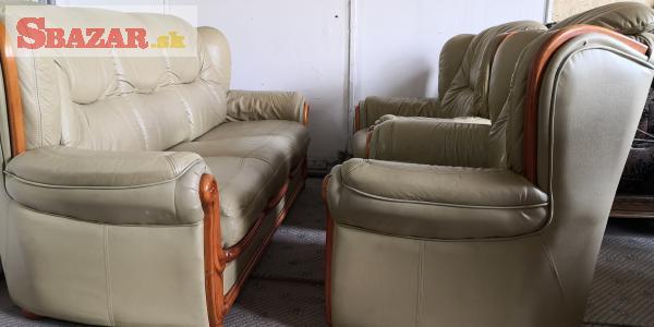 Kožená sedacia súprava 3+1+1