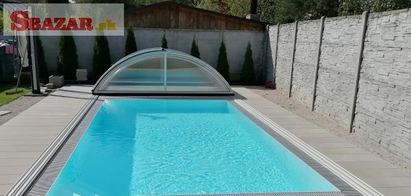 Obloukové zastrešenie na bazén