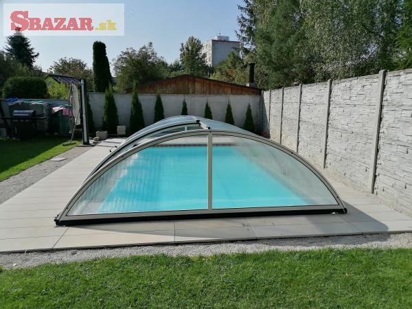 Nové obloukové zastrešenie na bazén