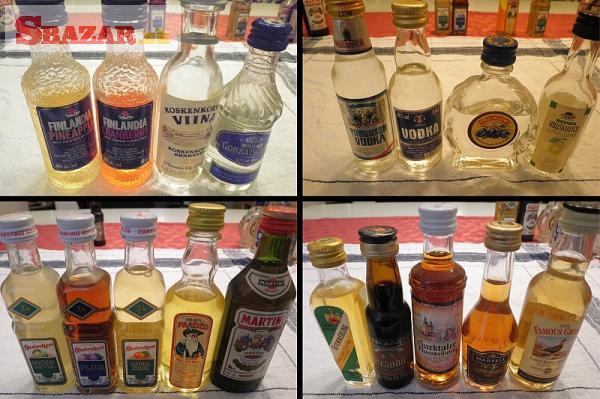 minilahvičky / lahve s alkoholem