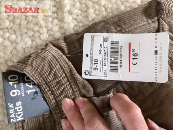 Predám nové hnedé menčestrové nohavice zn. ZA
