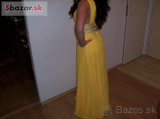 c75a0d593aa5 Predám krásne sýto žlté spoločenské šaty - PROFIBAZAR.sk