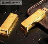 8 GB USB kľúč zlatá tehlička !
