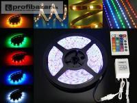 RGB 5m/300Led / 5050 + ovládač 44k + Adapter 5A