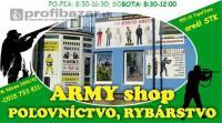 Army shop, poľovníctvo a rybárstvo Topoľčany