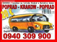 Expres Transfer POPRAD - KRAKOW letisko od 15e