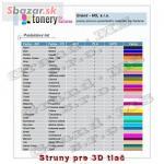 Struny pre 3D tlač - aj svietiace 143387