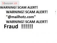 WARNING! SCAM ALERT!