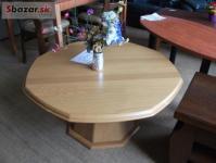 pěkný dubový konf. stolek, osmihran, krásná n