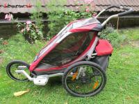 Chariot Cougar 1 + cyklo set + jogging set