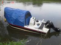 Rybársky čln + motor Mercury 90hp, 2004