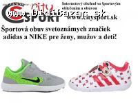 Športová obuv pre ženy, mužov a deti v online