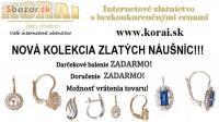Zlaté náušnice KORAI, nová kolekcia, super cen