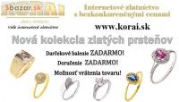 Zlaté prstene KORAI – nová kolekcia, super cen