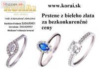 Z bieleho zlata prstene KORAI