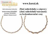 Zlaté náhrdelníky a súpravy v e-shope KORAI š