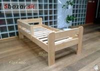 Dětská postel masiv 160x70 s roštem a dopravou