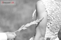 Ľahučké svadobné šaty (možnosť s folk.opask