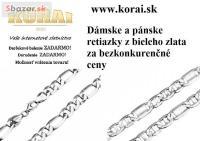 Retiazky z bieleho zlata od KORAI šperky