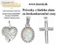 Prívesky z bieleho zlata od KORAI