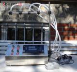 Stroj na liatie 4 Fľaše Plniace zariadenie Porci