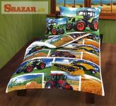 Dětské luxusní povlečení - traktor kombajn