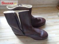 dôstojnícké zimné členkové topánky (čižmy 243559