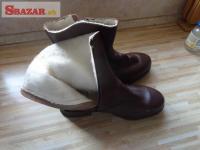 dôstojnícké zimné členkové topánky (čižmy 243561