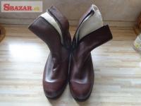 dôstojnícké zimné členkové topánky (čižmy 243562