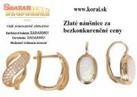 Náušnice zo žltého zlata od KORAI