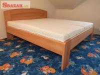 Nová velice masivní 4 cm buková postel - odveze 247289