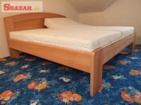 Nová velice masivní 4 cm buková postel - odveze 247290