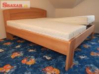 Nová velice masivní 4 cm buková postel - odveze 247291