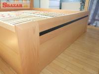 Nová buková postel, úložný prostor, kované d 247294