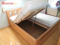 Nová buková postel, úložný prostor, kované d 247295