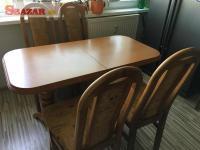 Jedalensky roztahovaci stol plus 4 stolicky 248406
