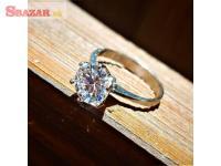 RUSSO Strieborný zásnubný prsteň so zirkónmi